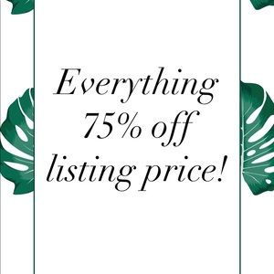 🌿 SALE! 75% OFF EVERYTHING!
